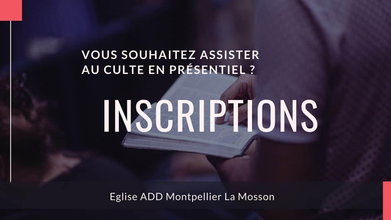 Inscriptions ADD Montpellier La Mosson